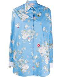 N°21 フローラルプリント シャツ - ブルー