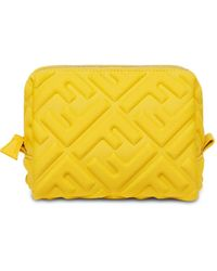 Fendi Косметичка С Тисненым Логотипом Ff - Желтый