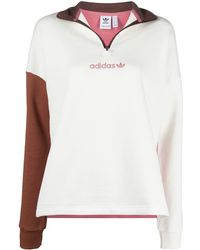 adidas Embroidered Logo Jumper - White