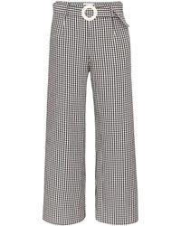 Solid & Striped Pantaloni a quadretti - Nero