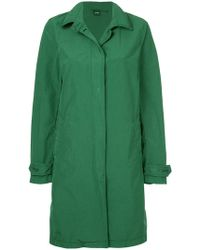 Aspesi - Button-down Fitted Coat - Lyst