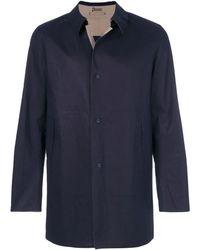 Herno Einreihiger Mantel - Blau