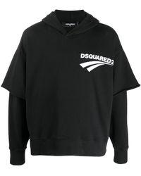 DSquared² - レイヤード スウェットパーカー - Lyst
