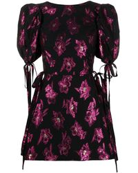The Vampire's Wife The Wrapsody Mini Dress - Black