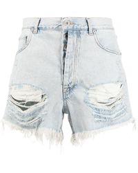 Unravel Project Jeans in Distressed-Optik - Blau