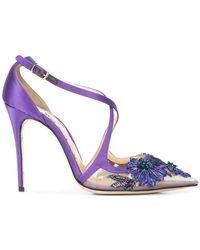 Marchesa - Zapatos de tacón Daphne florales - Lyst