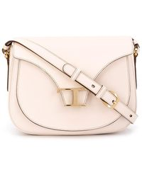 Tod's Leather Cross Body Bag - White