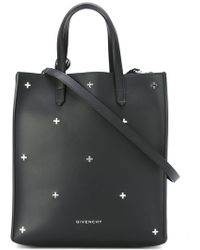Givenchy Stargate Leather Shopping Tote  - Black