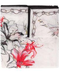 Alexander McQueen - Endangered Flower スカーフ - Lyst