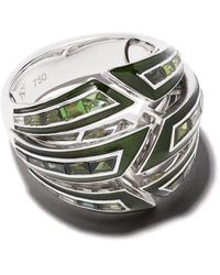 Stephen Webster 18kt White Gold Dynamite Bombe Enamel And Tourmaline Ring - Metallic