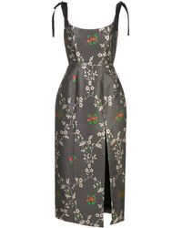 Markarian Floral Print Dress - Black