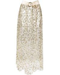 Rachel Comey Glitter Embellished Belted Skirt - Multicolor