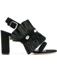Jean-Michel Cazabat - Pleated Open-toe Sandals - Lyst
