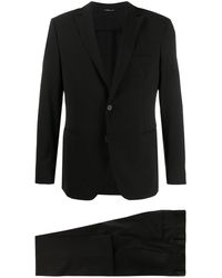 Tonello ツーピース スーツ - ブラック