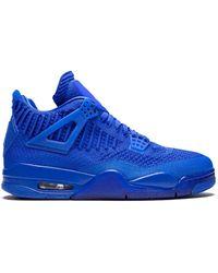 Nike Air Jordan 4 Retro フライニットスニーカー - ブルー