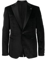 Tagliatore Velvet-lapel Single-breasted Blazer - Black
