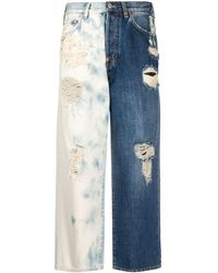 Givenchy Two-tone Cropped Jeans - Blue