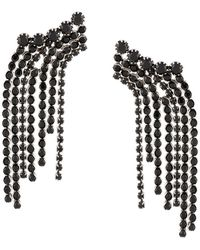 Isabel Marant A Wild Shore Crystal-chain Drop Earrings - Black