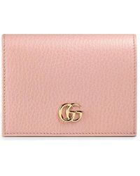 Gucci Leather Card Case - Roze