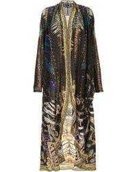 Camilla Mixed-print Long Jacket - Multicolour
