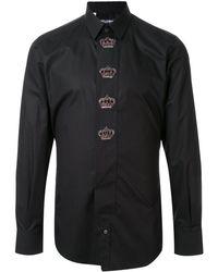 Dolce & Gabbana - クラウンディテール シャツ - Lyst