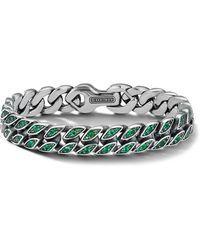 David Yurman Armband Met Smaragd - Metallic