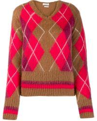 Ballantyne アーガイル セーター - ブラウン