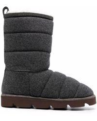 Brunello Cucinelli Стеганые Ботинки - Серый
