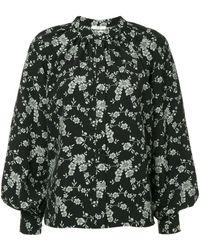 Co. Floral Blouse - Zwart