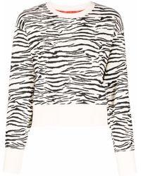 DKNY ゼブラプリント スウェットシャツ - ホワイト