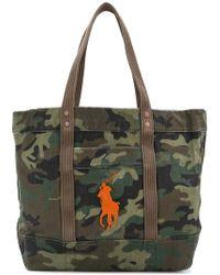 Polo Ralph Lauren Borsa a mano camouflage - Verde