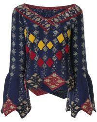 Peter Pilotto Solitaire Diamond Knit Sweater - Blue