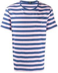 Polo Ralph Lauren ストライプ Tシャツ - ブルー