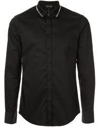 Emporio Armani Рубашка С Логотипом На Воротнике - Черный