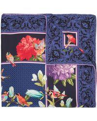 Shanghai Tang Платок С Цветочным Принтом - Синий