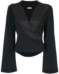 Amir Slama Wrap Style Blouse - Черный