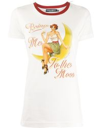 Dolce & Gabbana Bring Me To The Moon Tシャツ - ホワイト
