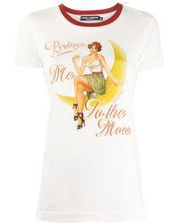 Dolce & Gabbana Футболка Bring Me To The Moon - Белый