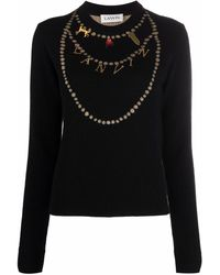 Lanvin ネックレスモチーフ セーター - ブラック