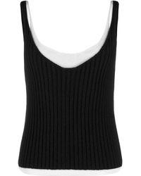 Bottega Veneta Ribgebreid Hemd - Zwart