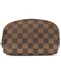 Louis Vuitton Косметичка Pochette - Коричневый