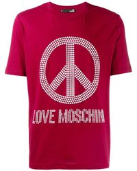 Love Moschino - Peace & Love Tシャツ - Lyst