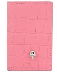 Alexander McQueen Bifold Pocket Organizer - Pink