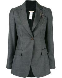 Brunello Cucinelli Classic Tailored Blazer - Grey