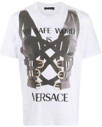 Versace - Safe Word Tシャツ - Lyst