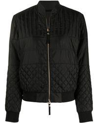 Emporio Armani キルティング ボンバージャケット - ブラック