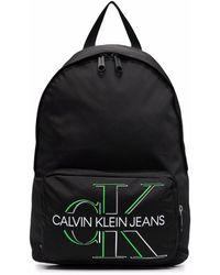 Calvin Klein ロゴ バックパック - ブラック