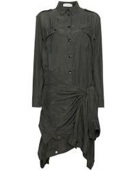 Faith Connexion - Silk Double Shirt Dress - Lyst