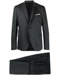 Neil Barrett ストライプ ツーピース スーツ - グレー
