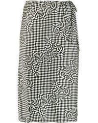 6397 Checked Skirt - Black